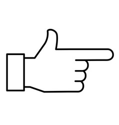 Hand pointing right sign vector