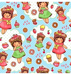 happy sweet pattern vector image