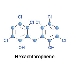 Hexachlorophene is an organochlorine vector