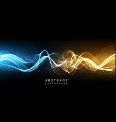 hi-tech futuristic techno background neon shapes vector image