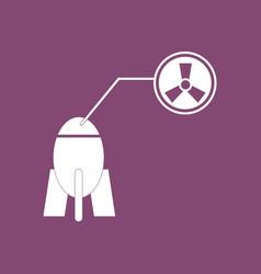 Icon atomic bomb vector