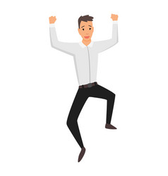 jumping business people business man jumps vector image