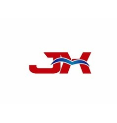 JX Logo Graphic Branding Letter Element vector image