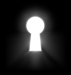 keyhole illuminated rays light isolated on vector image