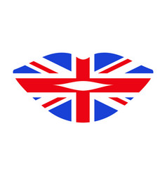 learn english lips vector image