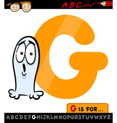 letter g with ghost cartoon vector image