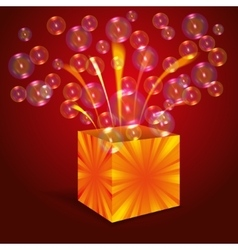 Magic box with bubbles vector