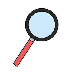 Magnifying glass cartoon vector