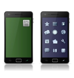 mobile phone with icons vector image