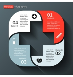 Modern template for your medical project vector image