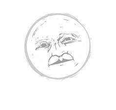 Moon Face 1 vector