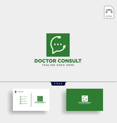 odctor consultant message communication logo vector image