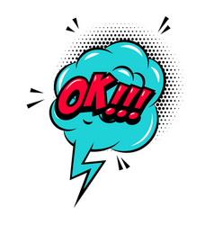 ok comic style phrase with speech bubble vector image