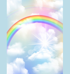 rainbow realistic composition vector image