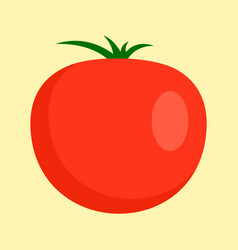 red tomato icon flat style vector image