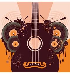 Retro Guitar Poster2 vector