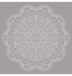 Round decorative design element vector
