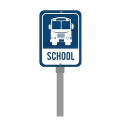 school sign traffic blue isolated vector image