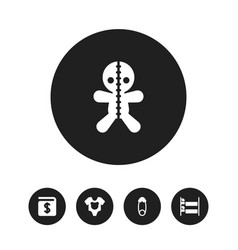 set of 5 editable folks icons includes symbols vector image