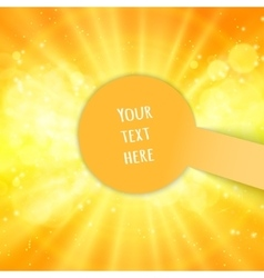 Shiny sun and space for your text vector