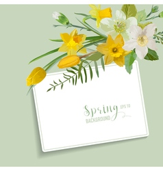 Spring Blossom Background - with Card for Text vector