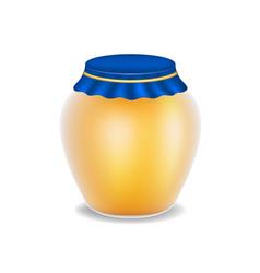 Sweet honey in glass bottle vector