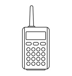 Talkie radio icon outline style vector