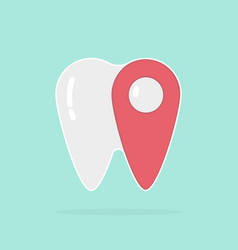 tooth pointer dental logo stylish design vector image