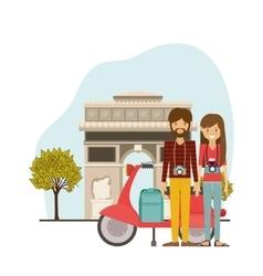 Traveler lifestyle design vector