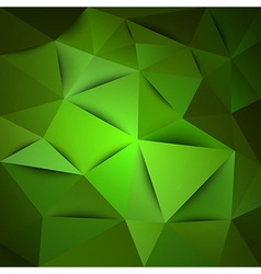 triangles green vector image
