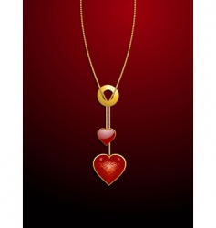 valentine heart necklace vector image