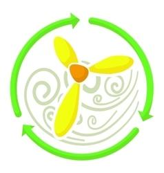 Ventilator icon cartoon style vector