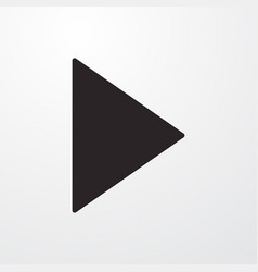 Video music play sign icon flat design sty vector