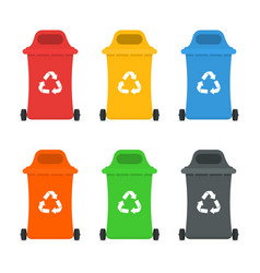 Waste sorting and recycling sorting management vector