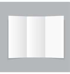 White stationery blank trifold paper brochure vector