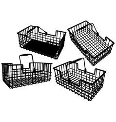 Wire basket vector
