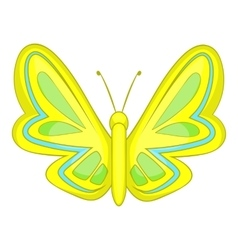 Yellow butterfly icon cartoon style vector image