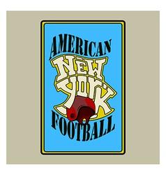 american football v vector image vector image