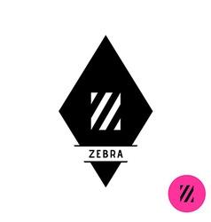 Letter Z logo Zebra stripes fashion style symbol vector image