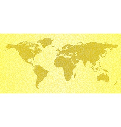 Map of the world yellow abstract travel background vector image vector image