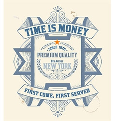 Premium Quality insignia Baroque ornaments and flo vector image
