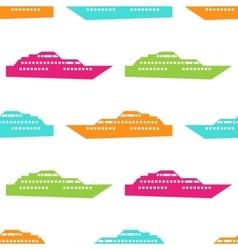 Ship seamless pattern vector image vector image