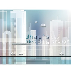 Abstract futuristic city design vector image