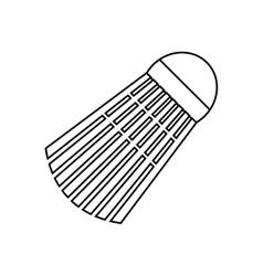 badminton birdie ball vector image