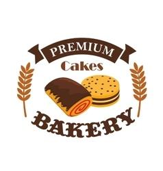 Bakery pastry shop busniess label emblem vector