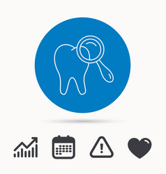 dental diagnostic icon tooth hygiene sign vector image