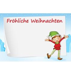 German Christmas Greeting vector image vector image