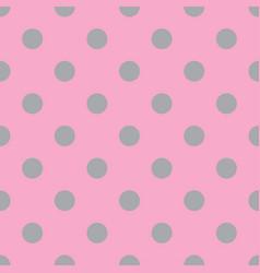 pink and gray seamless polka dot pattern vector image vector image