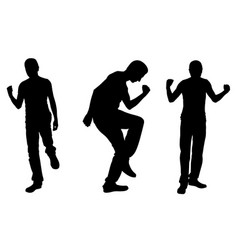 silhouettes of successful men vector image