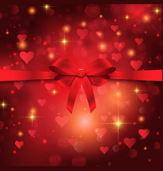 valentines day ribbon background vector image